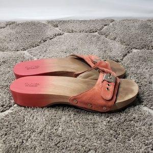 Dr. Scholls Original Collection Suede Wood Sandals